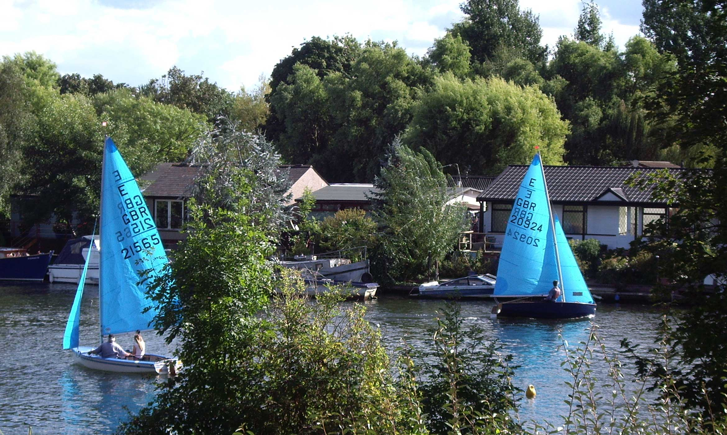 Sailing boats on the Thames